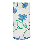 Blue Carnations Printed Guest Towel