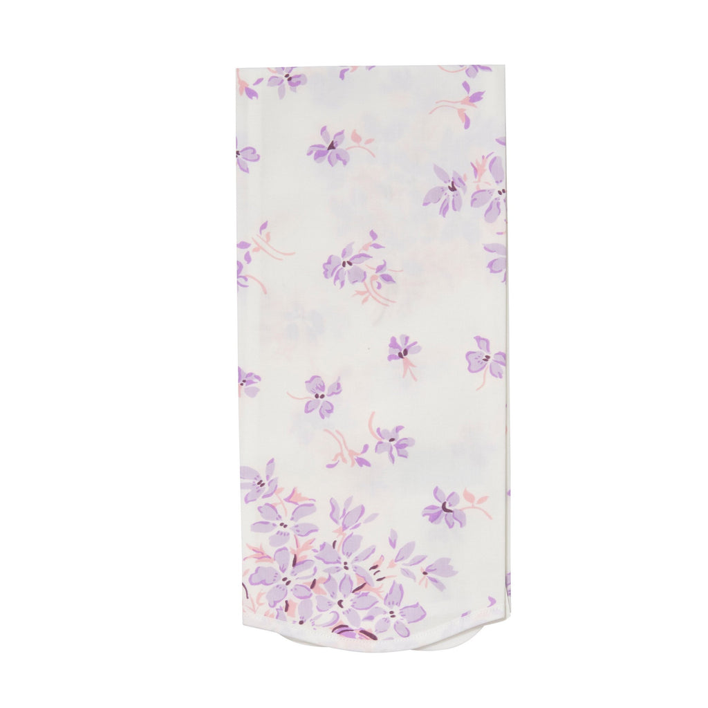 Violettes Lilac Printed Guest Towel
