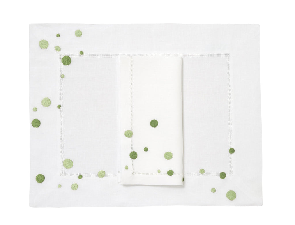 Confettis Green Placemat/Napkin Set