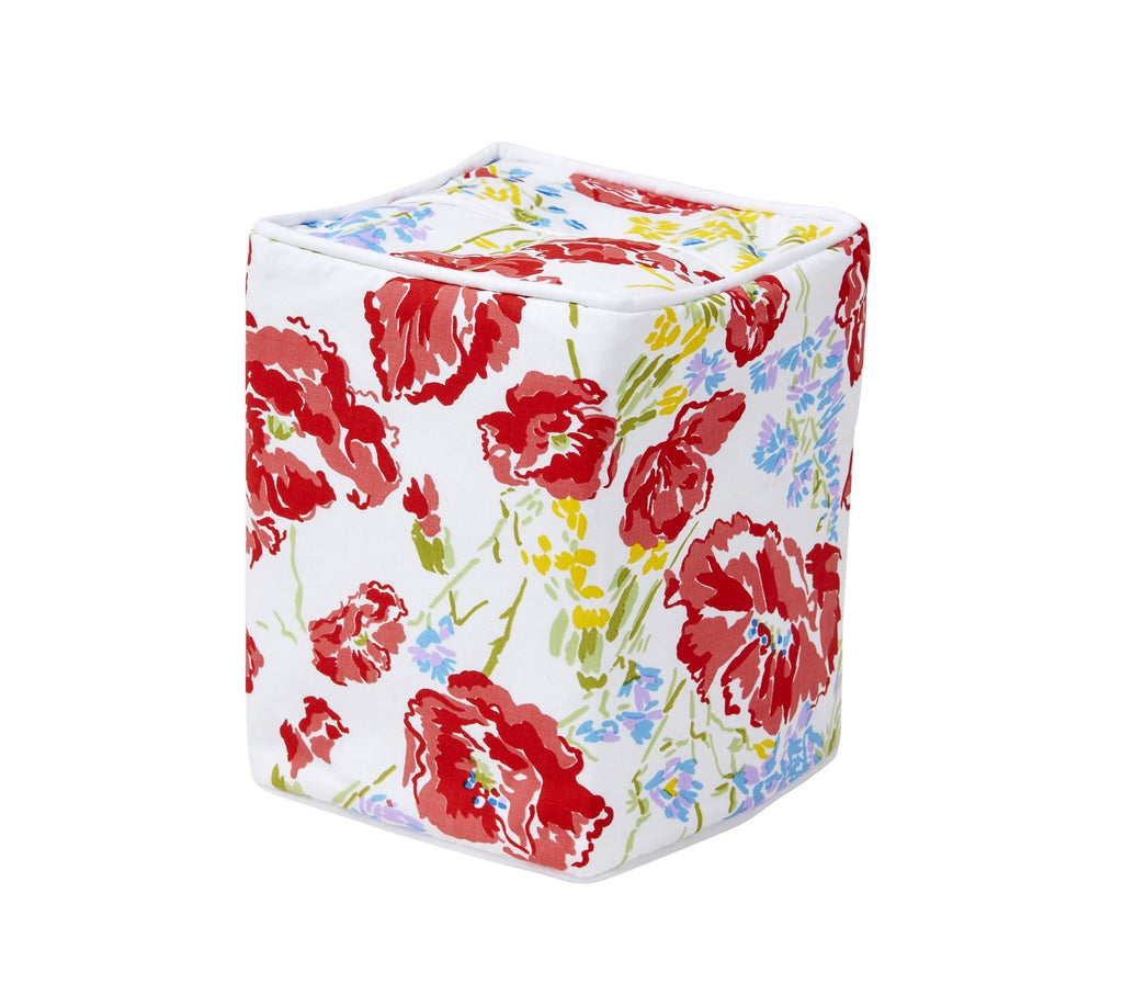 Coquelicots Red Tissue Box Cover
