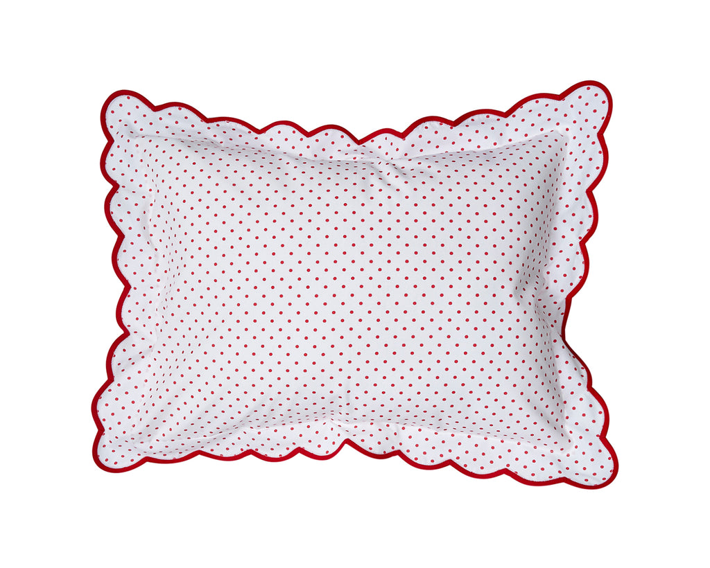 Mini Confettis Red Boudoir Sham