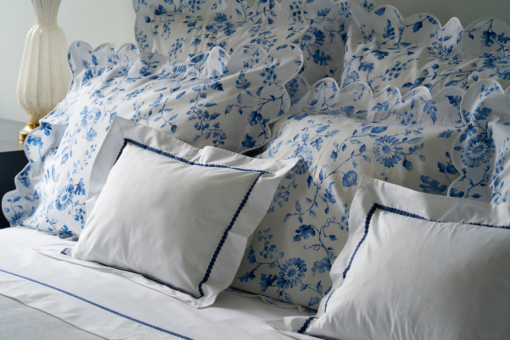 Etcetera Navy Embroidered Bed Linens