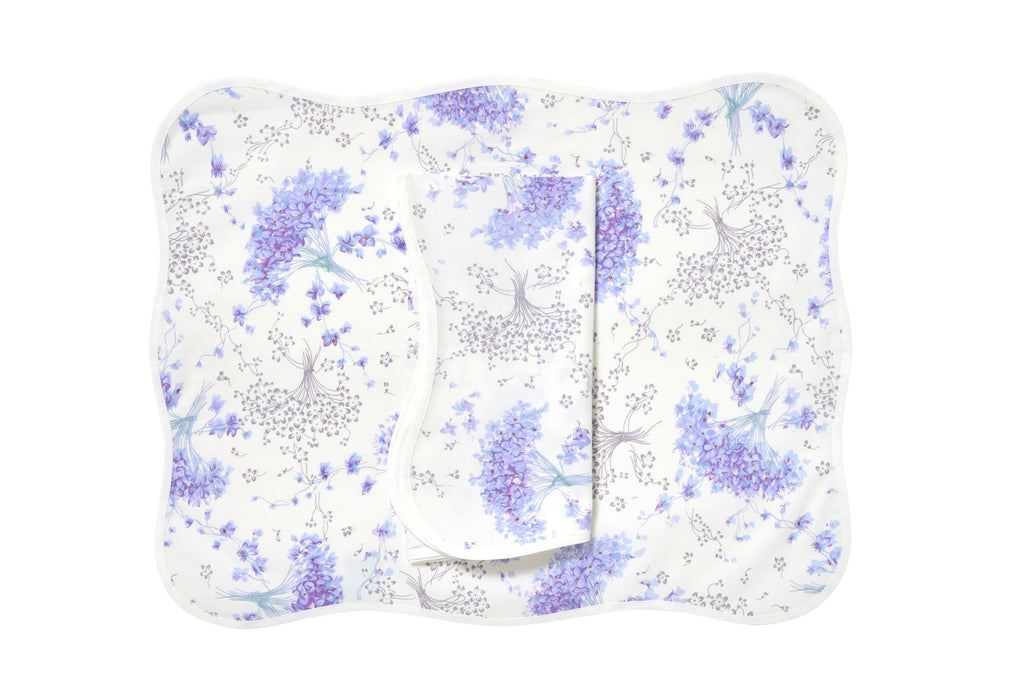 Bouquet de Violettes Placemat/Napkin Set