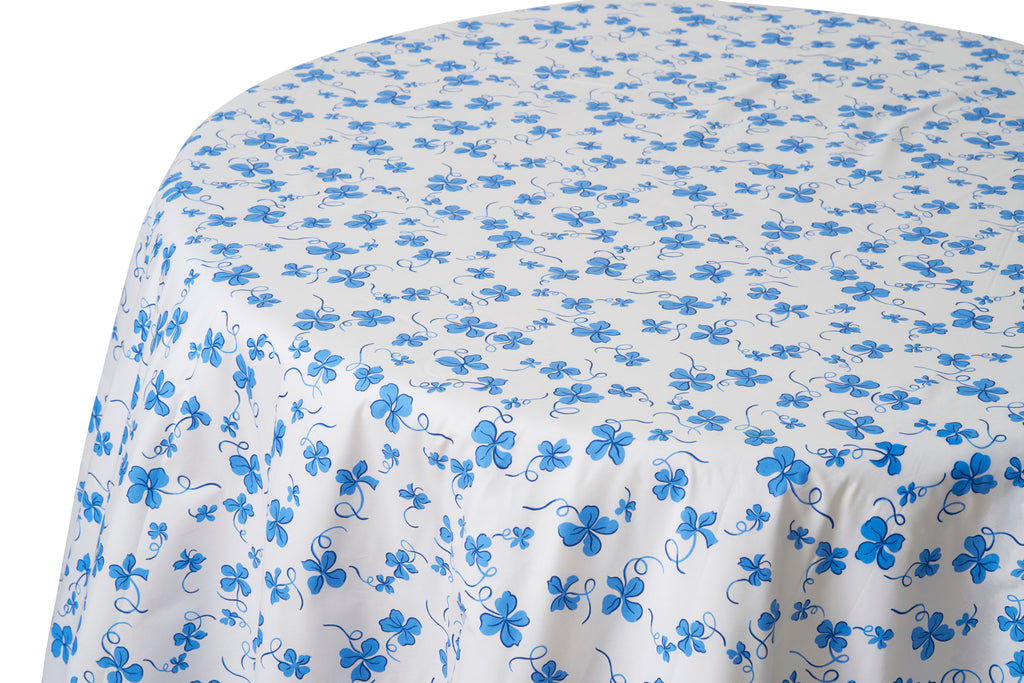 Trèfles Blue Tablecloth