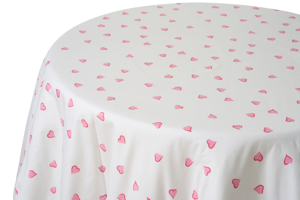 Coeurs Pink Tablecloth