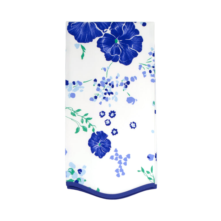 Fragrance Blue Printed Guest Towel D Porthault