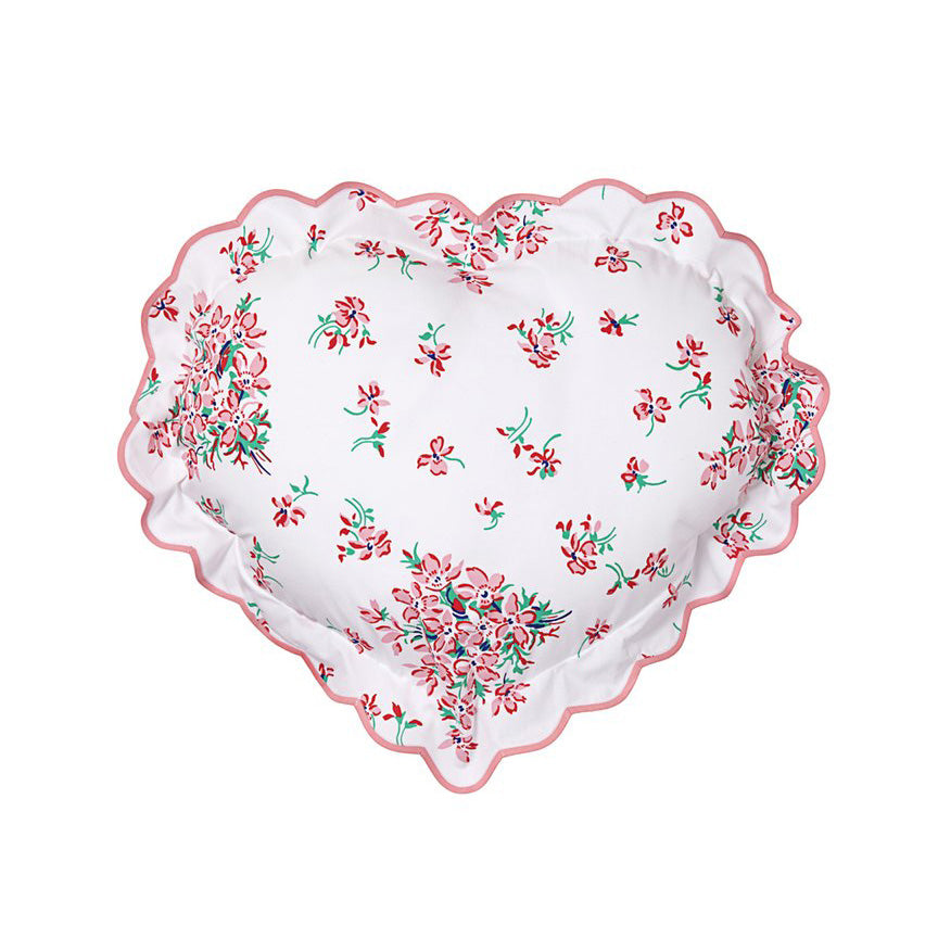 Violettes pink Heart-Shaped Sham