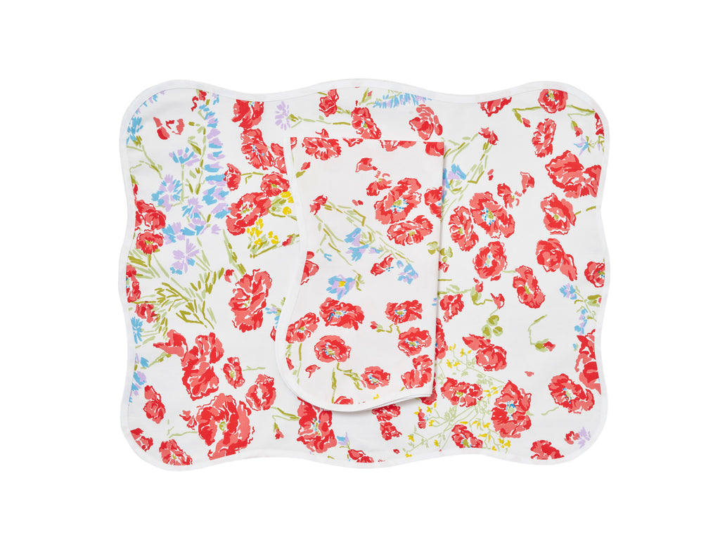 Coquelicots red Placemat/Napkin Set