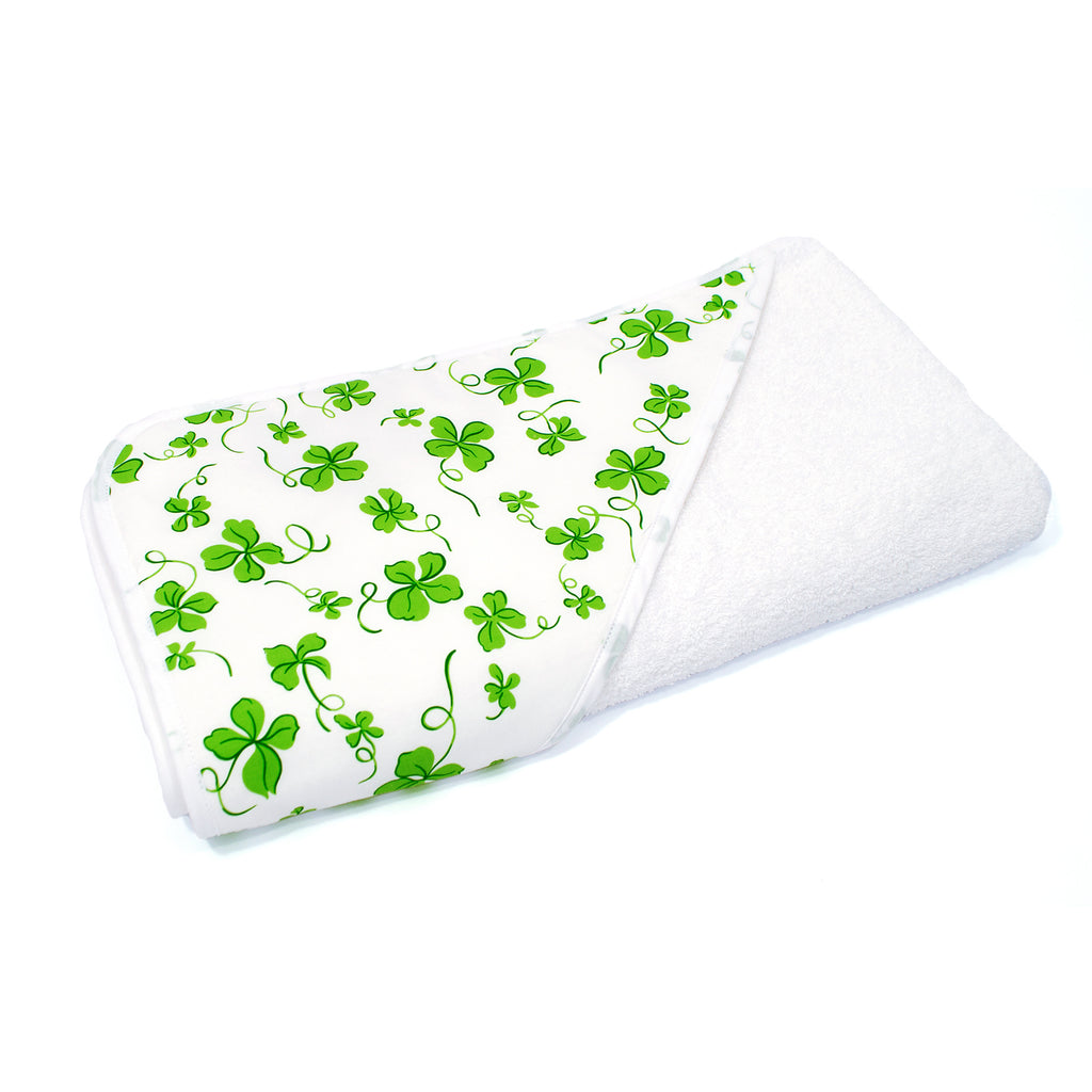 Green Clover Hooded Towel