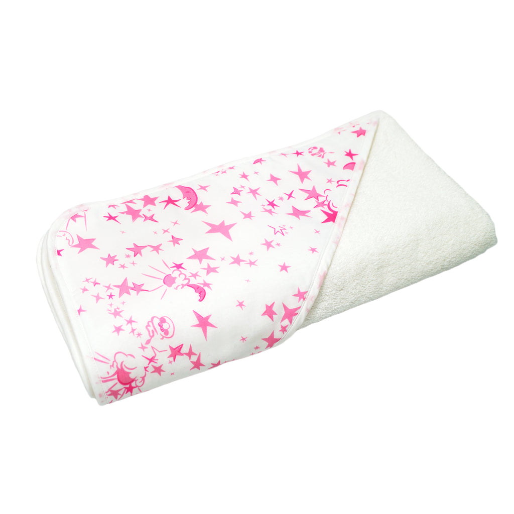 Pink Moons & Stars Hooded Towel