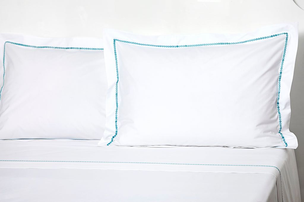 Etcetera DP blue Embroidered Bed Linens
