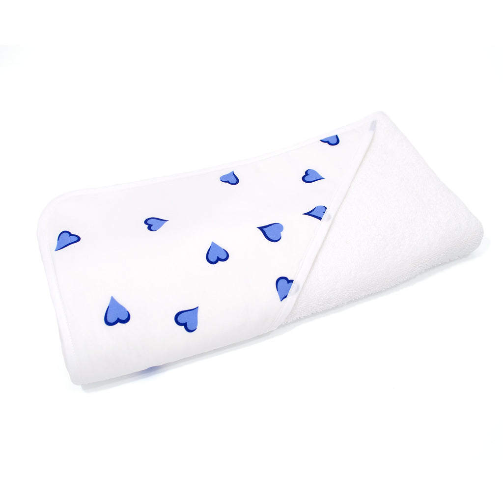 Blue Heart Hooded Towel