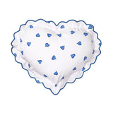 Coeurs blue Heart-Shaped Sham