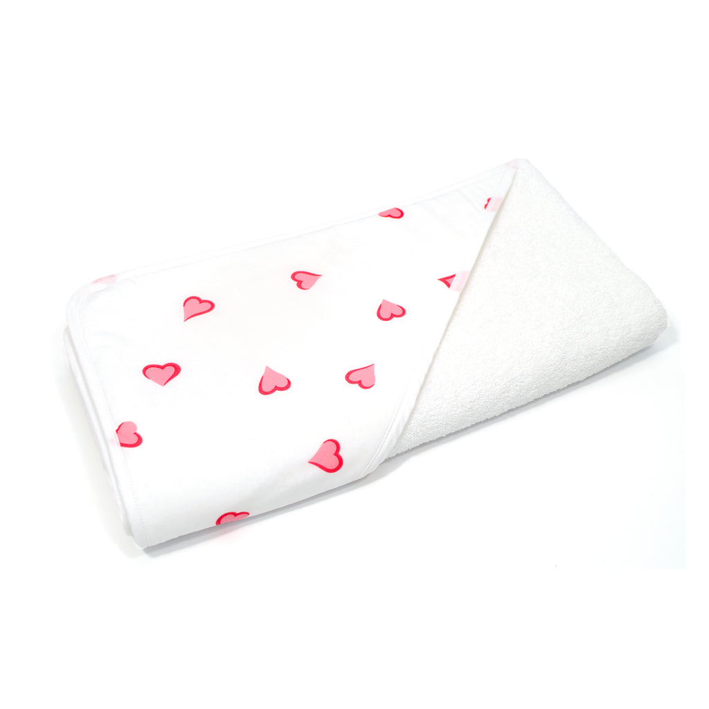 Pink Heart Hooded Towel