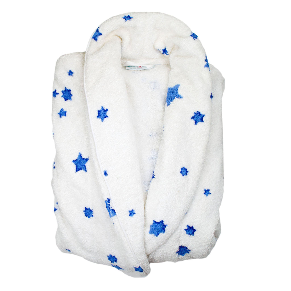 Etoiles blue Terry Robe