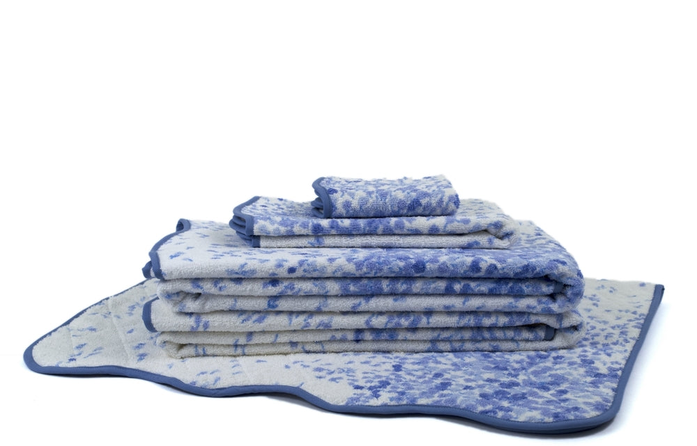 Bouquet Éclaté periwinkle Towels