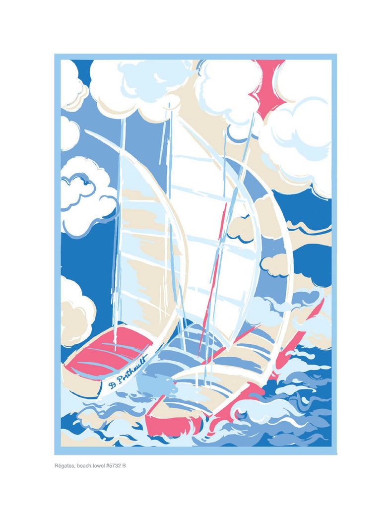 Régates Beach Towel