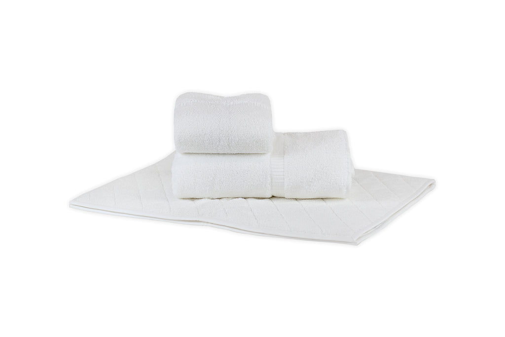 Solid White Liteau Towels