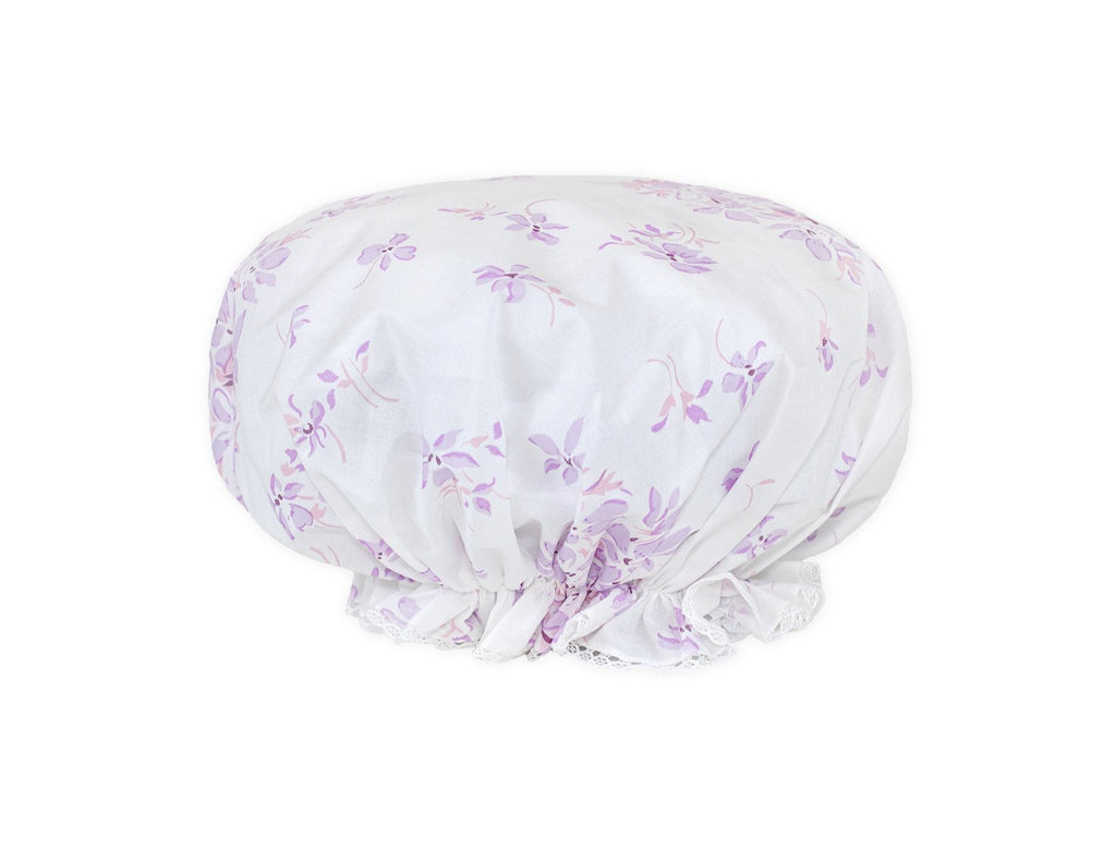 Violettes lilac Shower cap