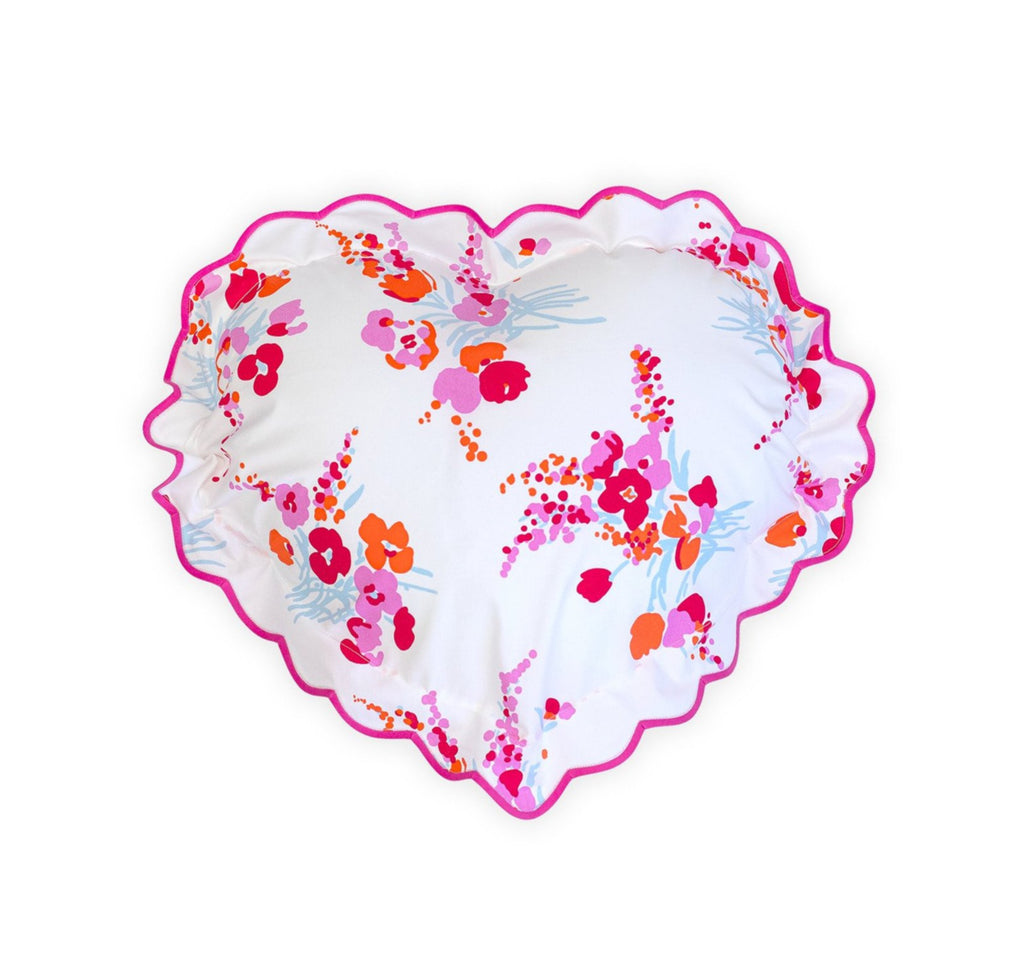 Demoiselles pink Heart-Shaped Sham