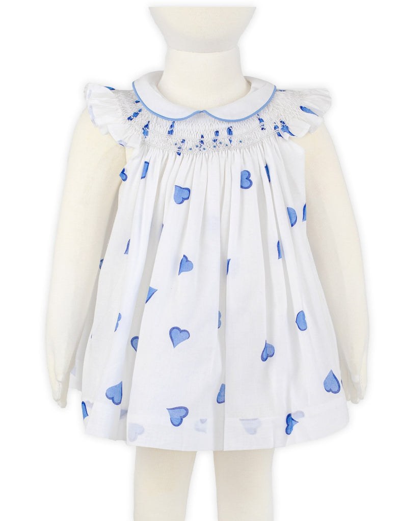 Coeurs Blue Vivi Smocked Dress