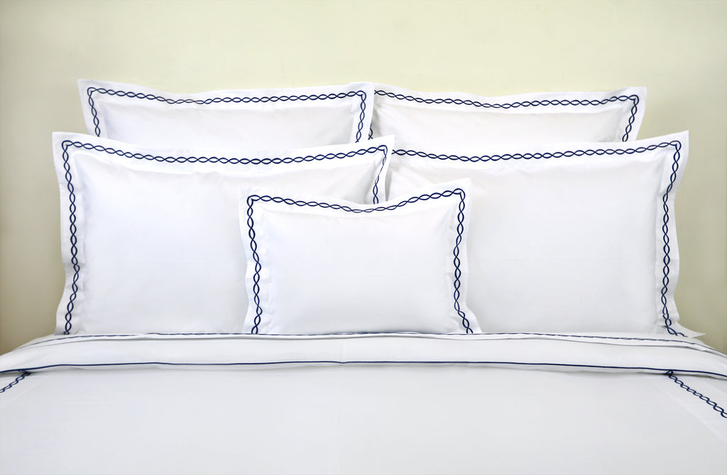 Lacet Navy Bed Linens