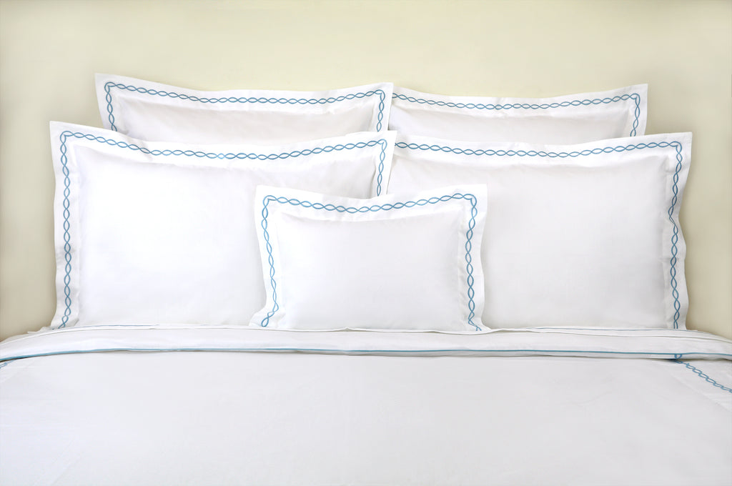 Lacet DP Blue Bed Linens