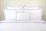 Lacet Blue Embroidered Bed Linens