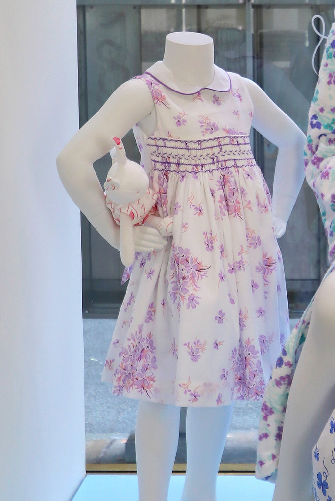 Violettes Lilac Heloise Smocked Dress