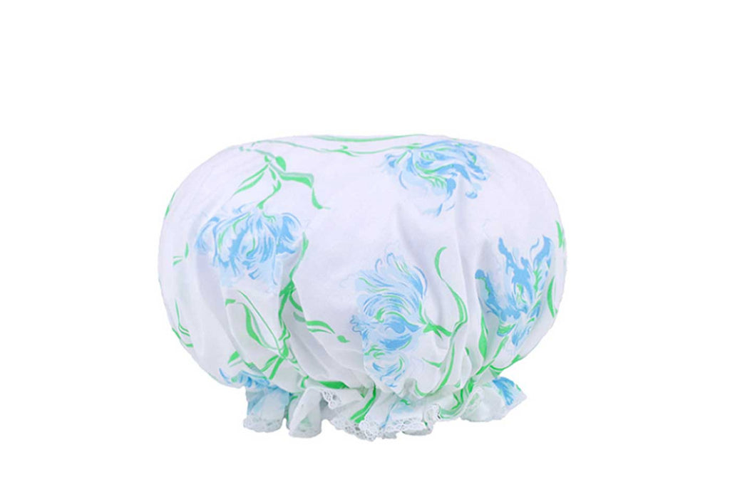 Tulipe Perroquet Blue Shower Cap