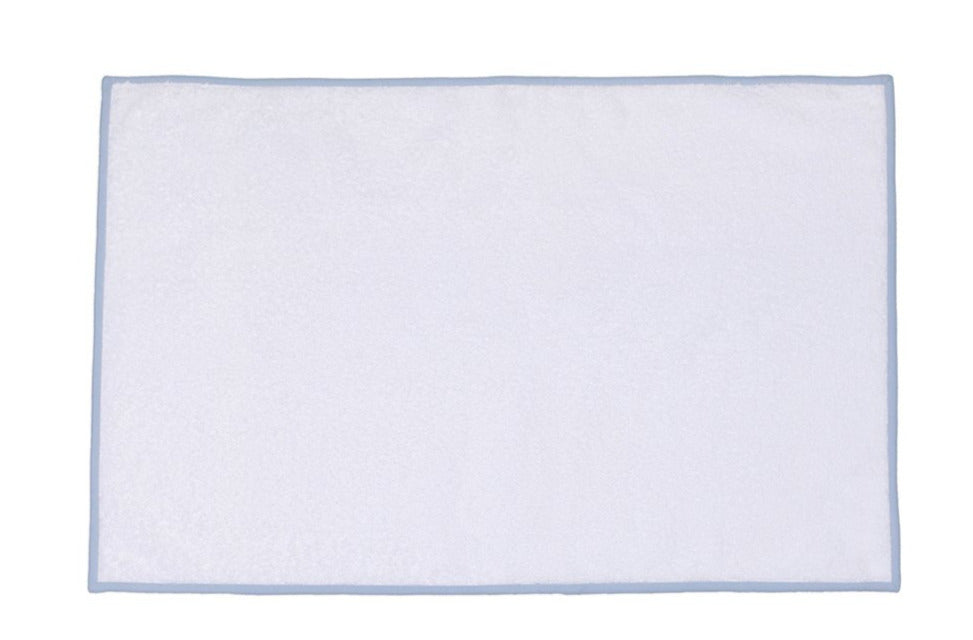 Solid White/Light Grey Towels