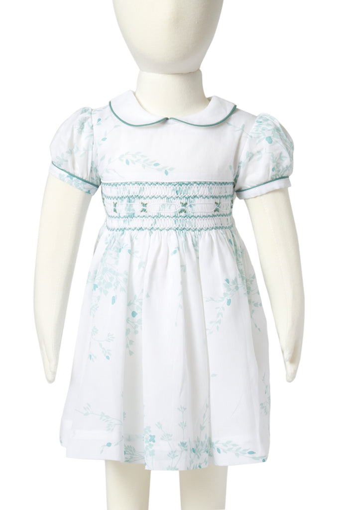 Jeté de Fleurs DP blue Madeleine Smocked Dress