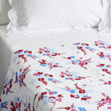 Demoiselles red/blue Coverlet