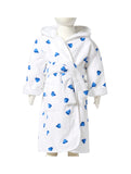 Coeurs Blue Hooded Robe