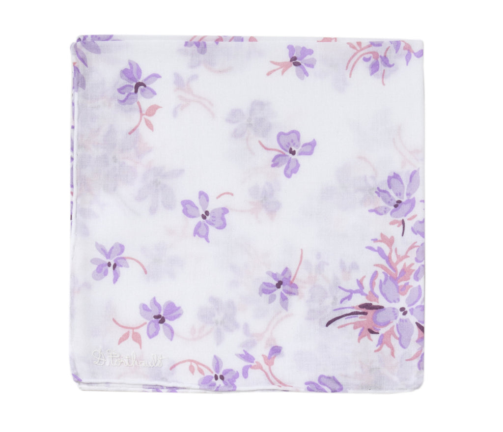 Printed Violettes Lilac Handkerchief