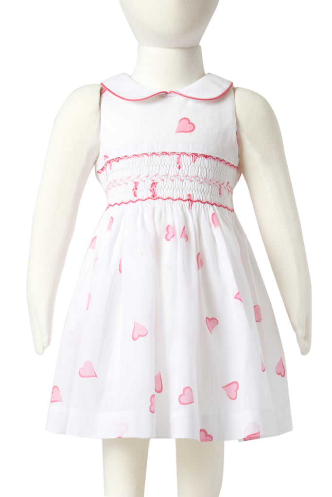 Coeurs Pink Heloise Smocked Dress