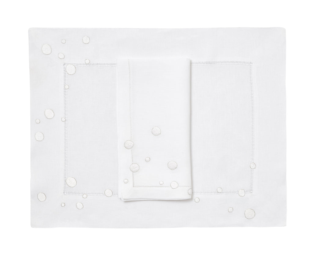 Confettis white Placemat/Napkin Set