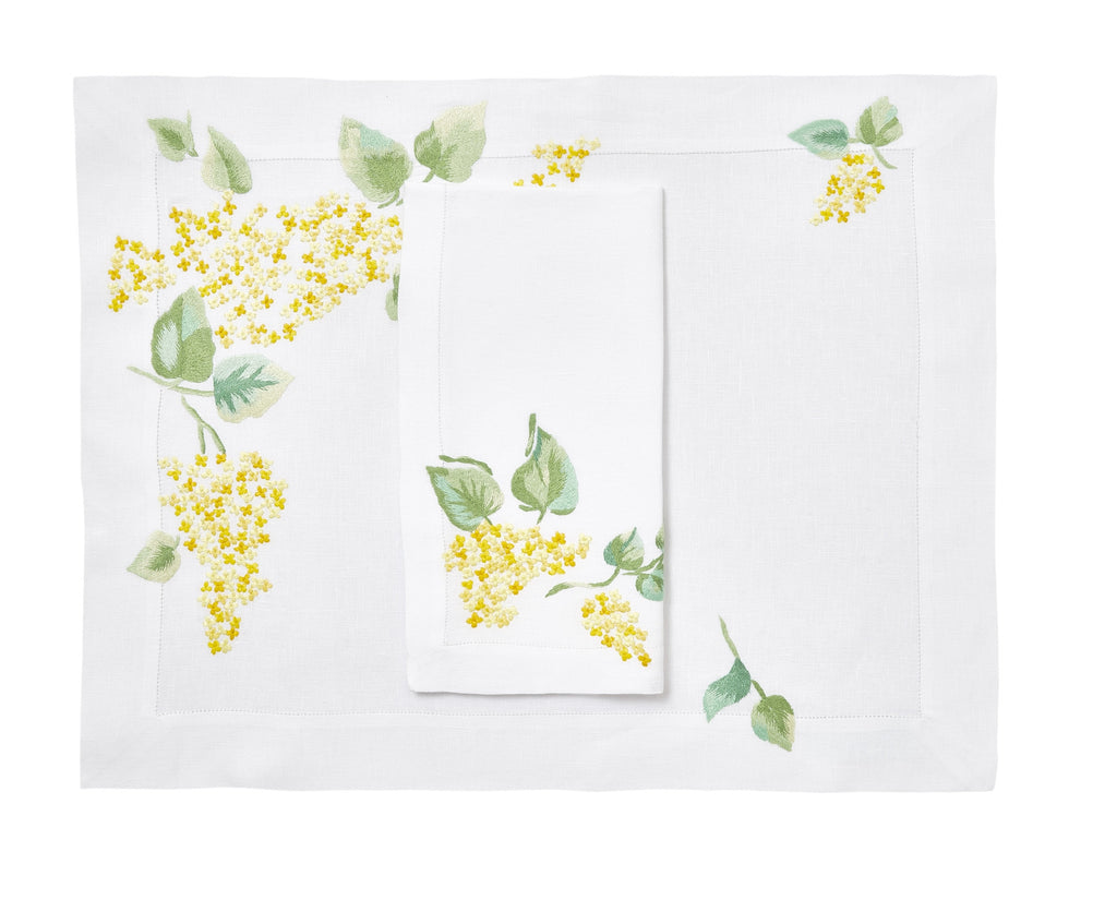 Lilas yellow Placemat/Napkin Set