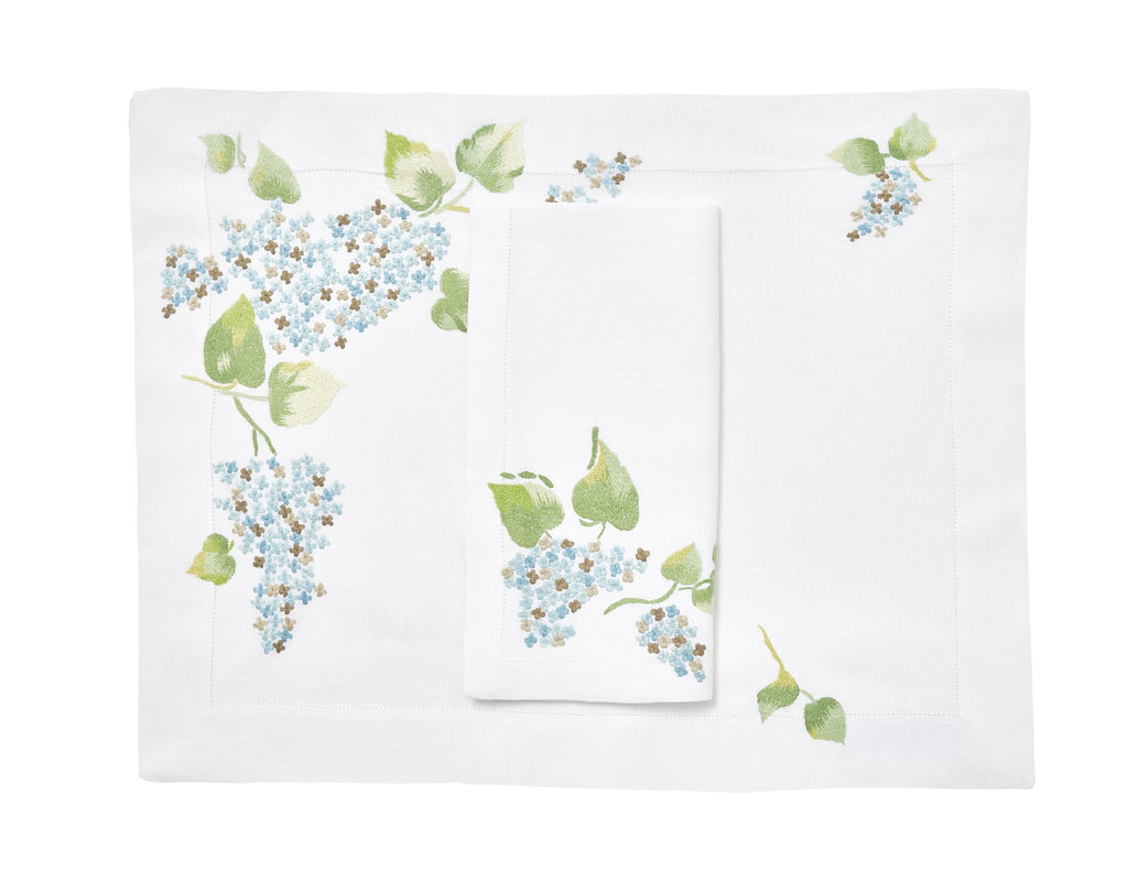 Lilas blue Placemat/Napkin Set