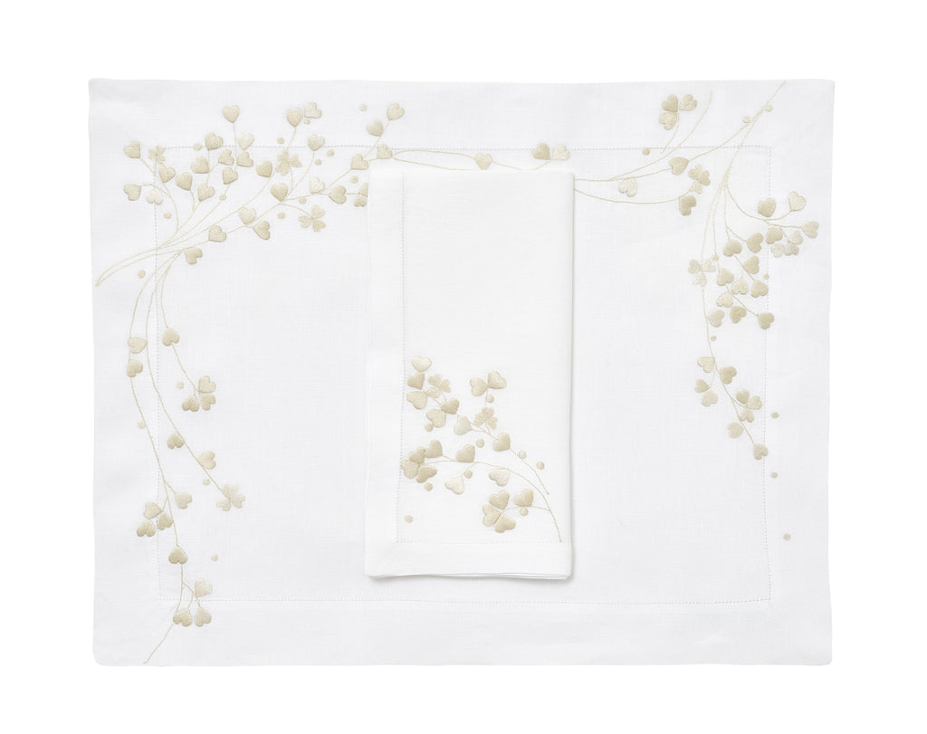 Anagramme ivory Placemat/Napkin Set