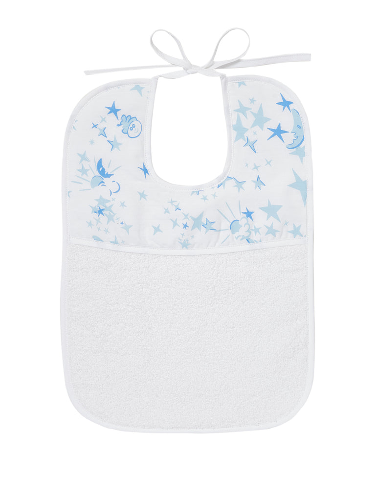 Moons/Stars Blue Printed Bibs