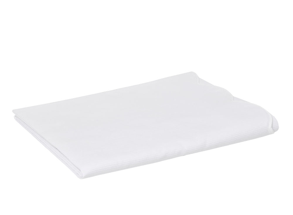 Cote de Cheval Coverlet- Scalloped White