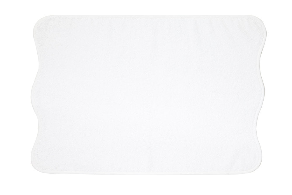 Solid White Wavy Towels