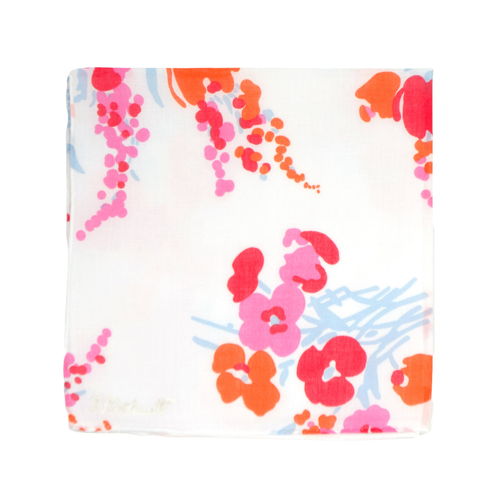Printed Demoiselles Pink/Orange Handkerchief