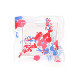 Demoiselles red/blue Emb. Square Sachet