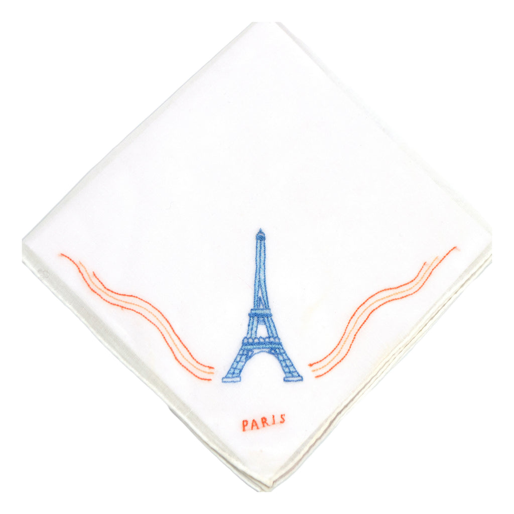 Eiffel Tower Embroidered Handkerchief