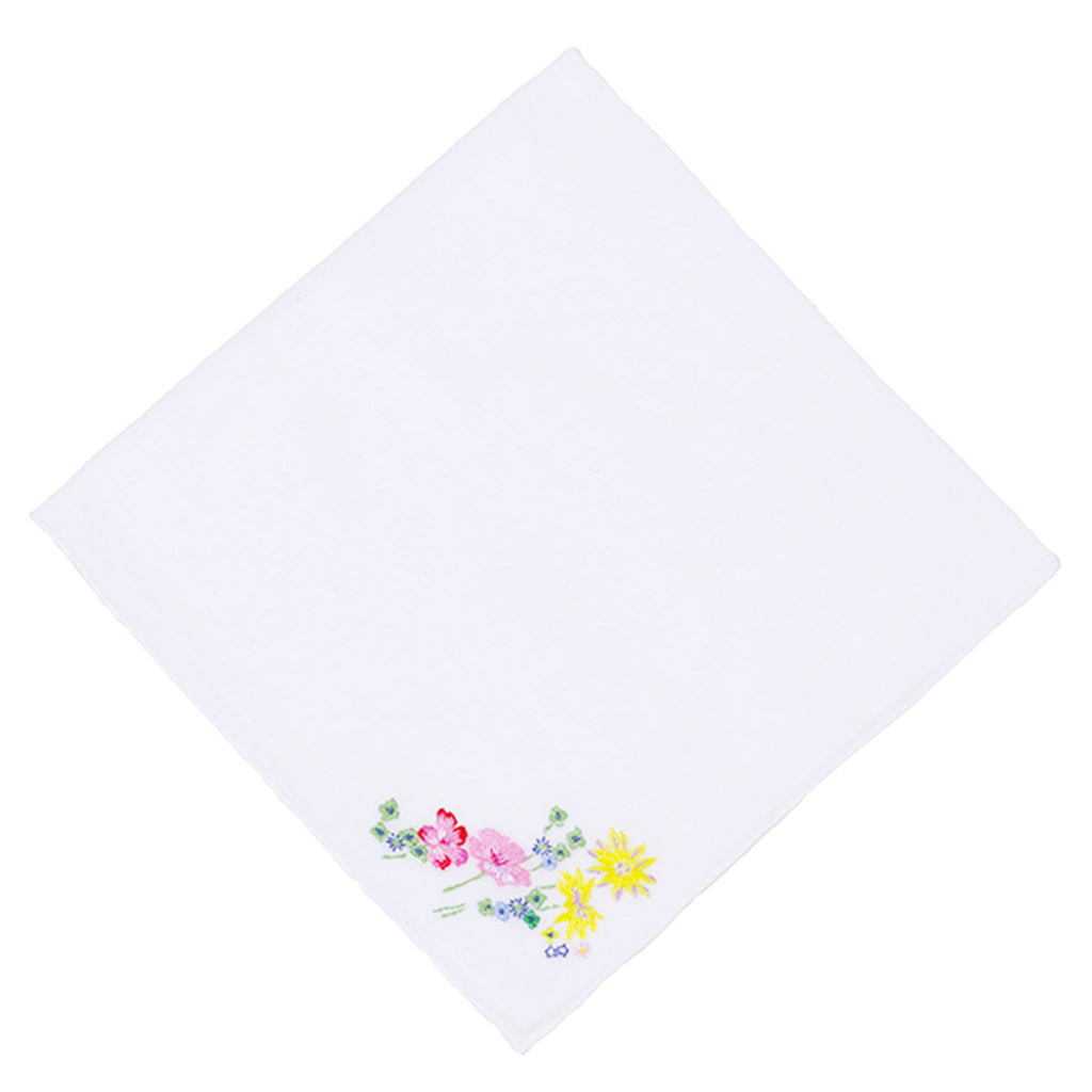 Fleurs d'Avril Embroidered Handkerchief
