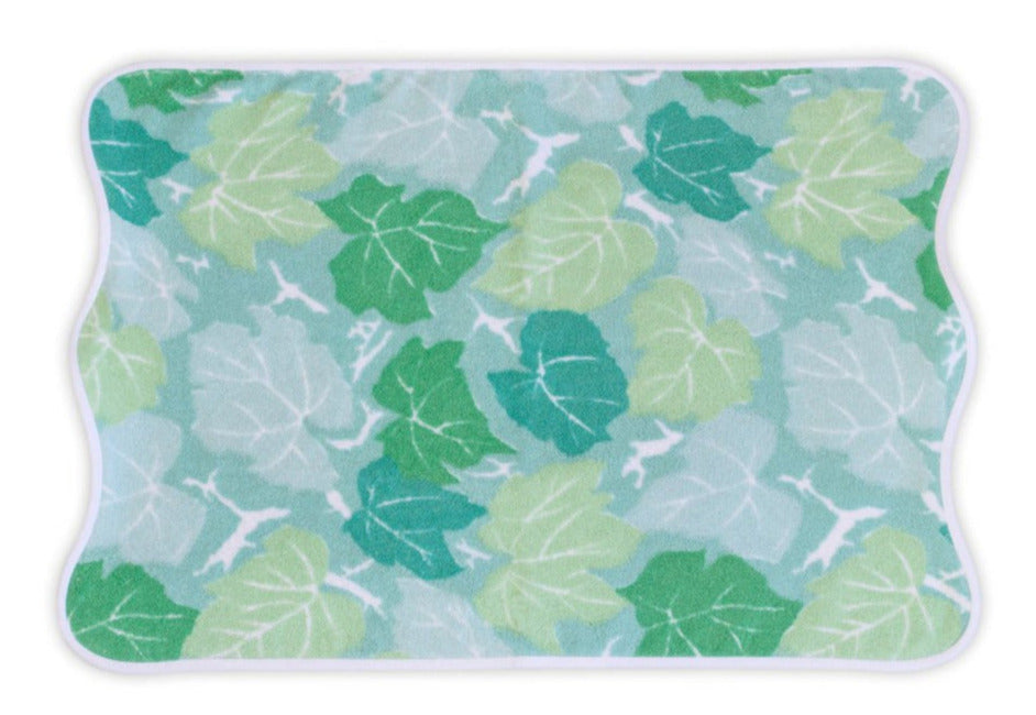 Feuilles d'Erable Blue/Green Towels