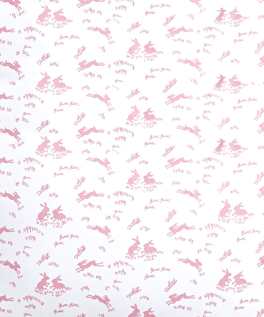 Lapins pink Fitted Crib Sheet