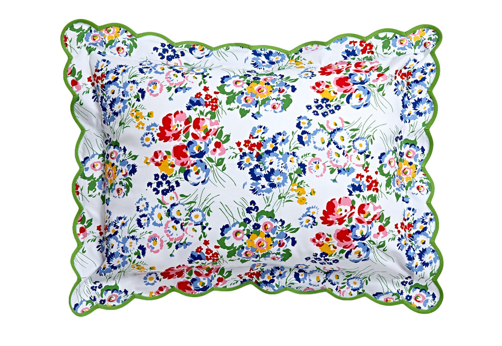 New York Mille Fleurs Green Scallop Bed Linens